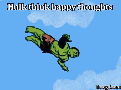 Happy Thoughts Meme - hulk think happy thoughts marvel comics know your meme