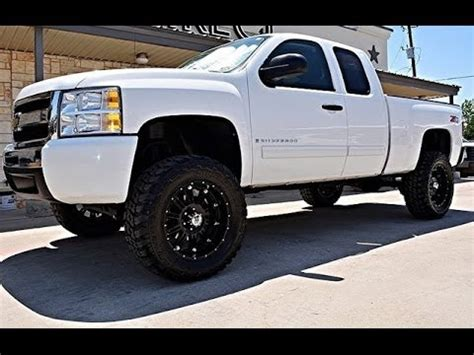 2009 chevy silverado 1500 lt 4wd ext cab lifted truck http