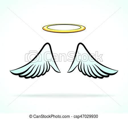 alas ángel, aureola. aureola, ilustración, alas ángel