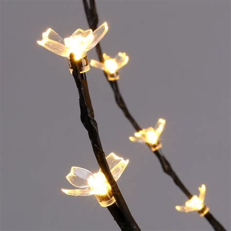 how many feet of lights for a 6 foot tall christmas tree 6 cherry blossom lighted tree floor l 200 led lights warm white us ebay