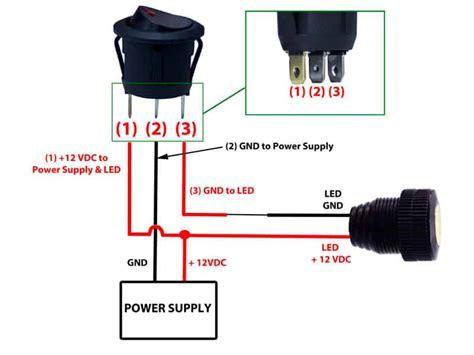 rocker switch 12v led prewired in blue