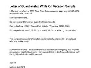 Consent Letter For Guardian letter of guardianship while on vacation sample