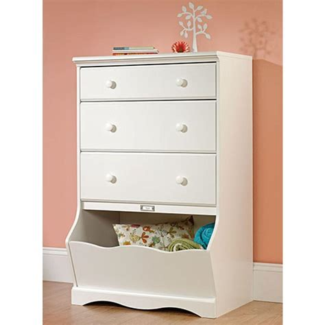 sauder large storage cabinet soft white finish sauder pogo 3 drawer soft white chest 414434 the home