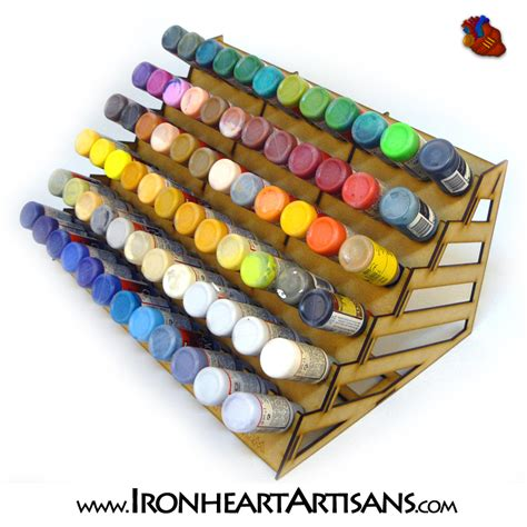 Airbrush Paint Rack by Acrylic Paint Storage Racks For Tabletop Miniature Paints