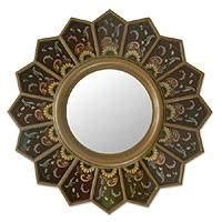 mirror brown sunflower fan | novica