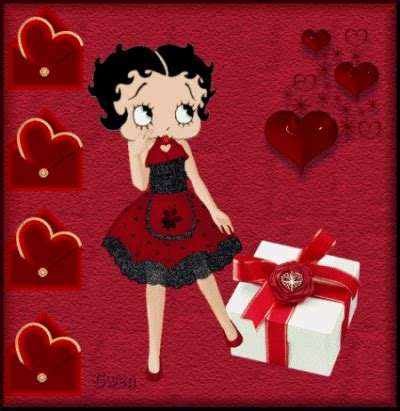happy valentines day betty boop betty boop pictures archive betty boop animated