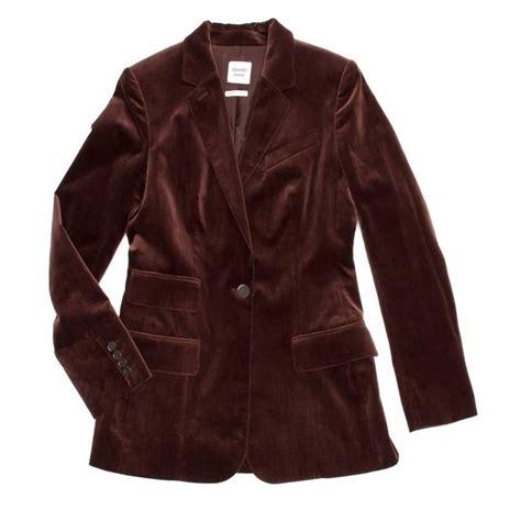 New Jaket Tone Maroon herm 232 s maroon cotton velvet blazer for sale at 1stdibs