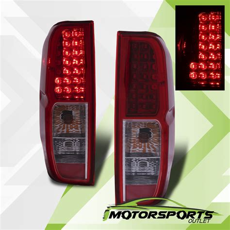 2014 nissan frontier tail lights for 2005 2017 nissan frontier red clear led rear brake