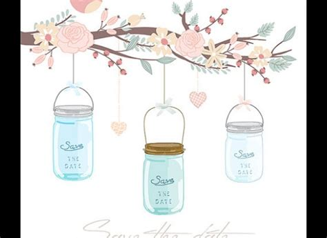 save the date mason jar clip art www pixshark com