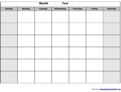 Plain Calendar Template plain calendar template calendar printable template