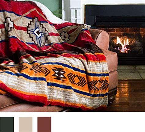cozy fleece oversized southwestern throw  reverse