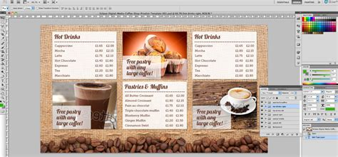 coffee shop menu board psd template eclipse digital media