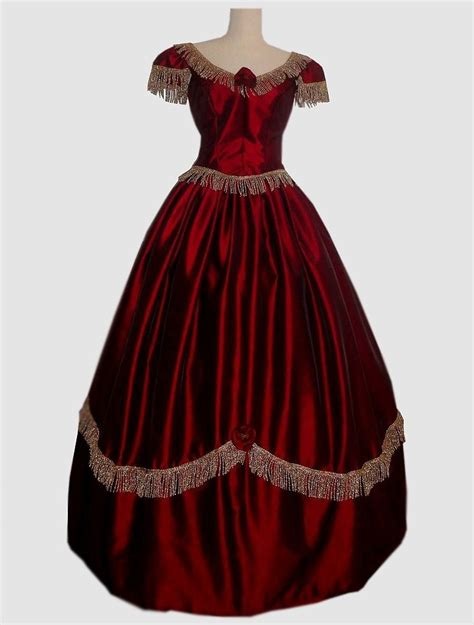 Hand Made Civil War Ball Gown Or Bridal Wedding Dress by