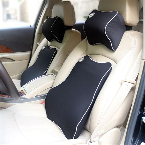 pillow car valuetom high density premium memory foam car pillow set
