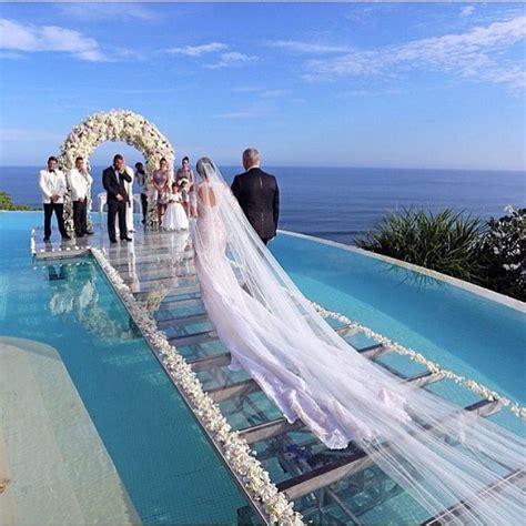 wedding aisle pool beautiful seaside wedding aisle is glass water