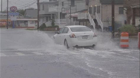 jersey shore nj spark photos flooding at the jersey shore 6abc com