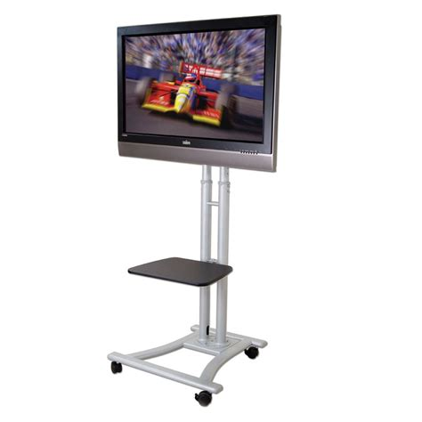 mobile lcd mobile plasma led lcd trolley stand mount for up to