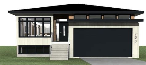 raised bungalow house plans new home in saskatoon