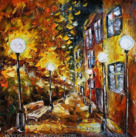 painting artist painting autumn court yard 107 by rybakow buy