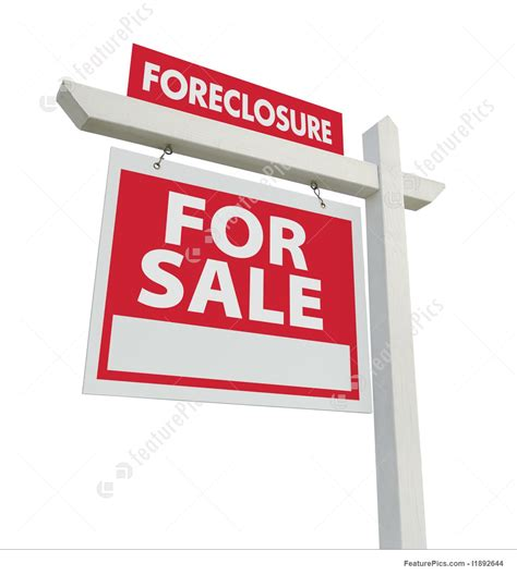 houses in foreclosure for sale templates foreclosure for sale real estate sign stock image i1892644 at featurepics