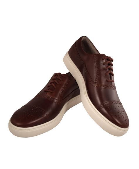 Paul Smith Serge Embossed Trainers paul smith shoes brown leather fairey trainers paul