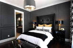 Dark Grey Bedroom by 15 Refined Decorating Ideas In Glittering Black And Gold