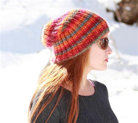slouchy beanie knitting pattern for beginners sherbert beanie slouch hat allfreeknitting