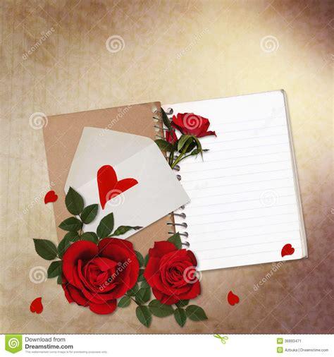 imagenes vintage rojas fondo del vintage con las rosas rojas la libreta y el