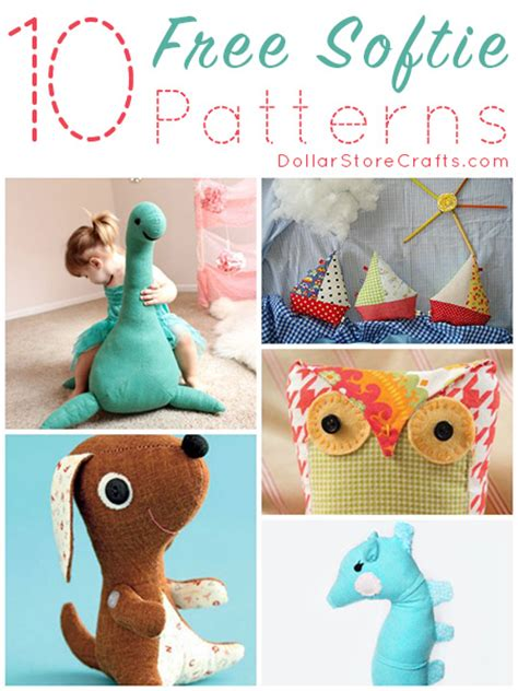10 Free Softie Sewing Patterns » Dollar Store Crafts