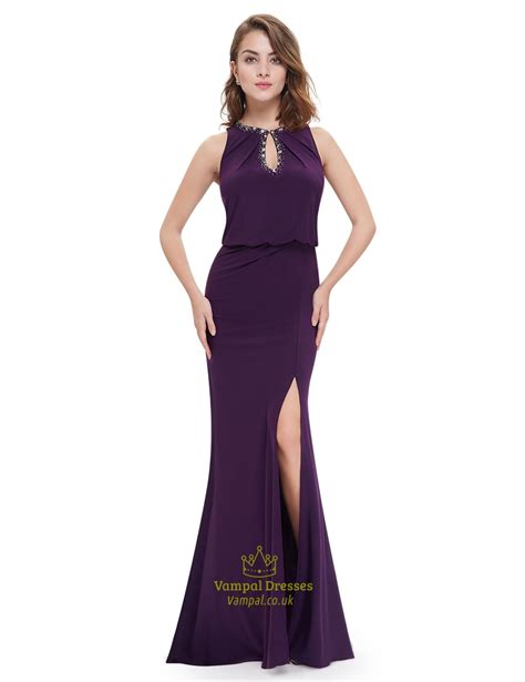 beaded top prom dresses slit mermaid prom dresses with beaded top val dresses