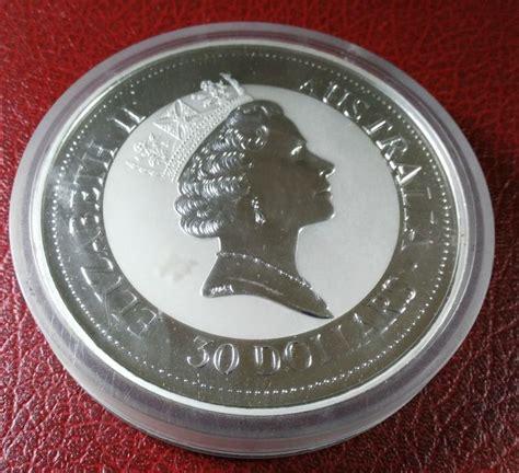 1 kilo australian silver kookaburra coin 1992 australia coin from kookaburra 30 dollars year 1992