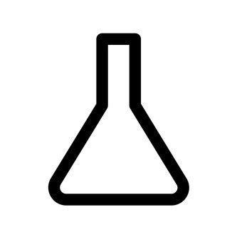 Botol Erlenmeyer gratis siluet vektor icon prasaja flask tandhani
