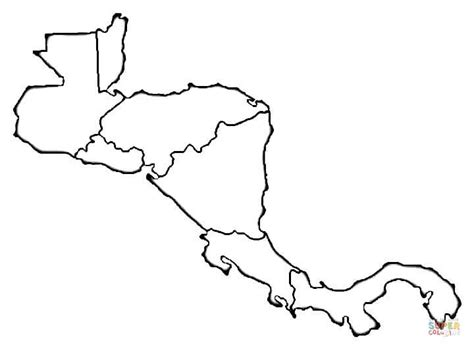 coloring page map of central america central america map coloring page murderthestout