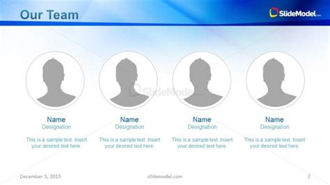 company profile slide design for team presentation