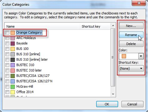 color categories outlook work for you outlook categories