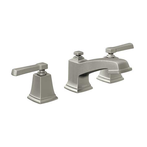 Bathroom Faucets Brushed Nickel - shop moen boardwalk spot resist brushed nickel 2 handle