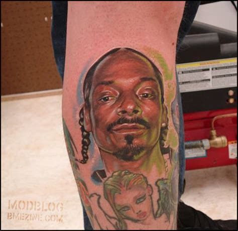 snoop dogg tattoos snoop dogg portrait bme piercing and