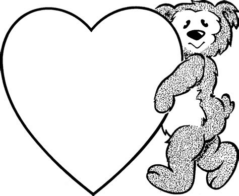 teddy bear valentine coloring page best valentine s day coloring pictures printables hug2love