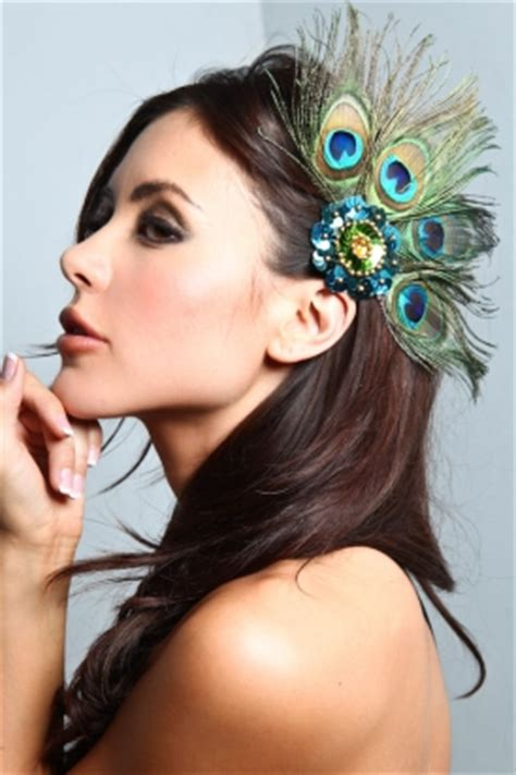 Wedding Hair Accessories With Feathers by Decor The 530