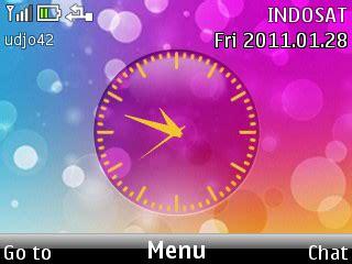 colour clock themes colorfull nokia c3 theme