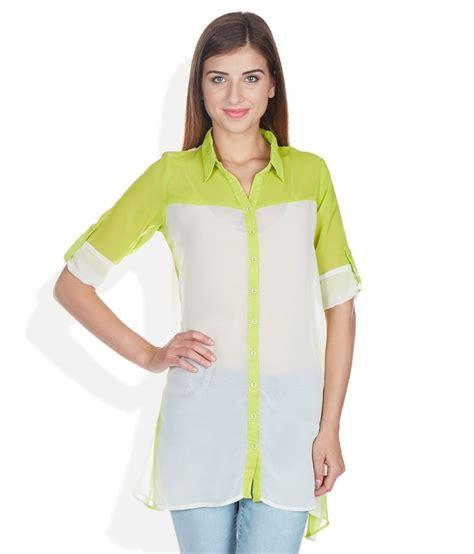 Tunic Helena Tunic 1 and green regular collar tunic buy and green regular collar tunic at best prices in
