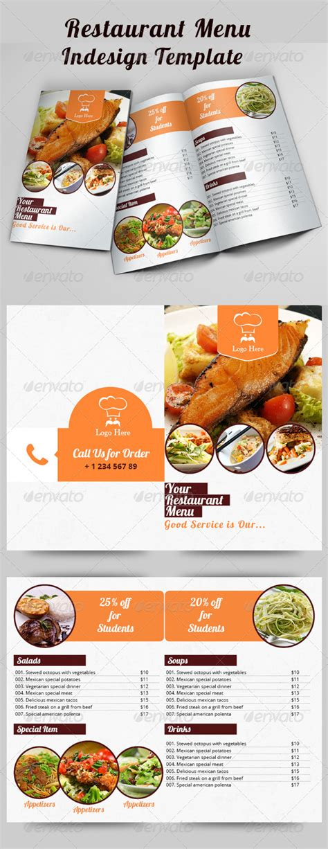 Indesign Templates For Restaurant Menu For Free 187 Dondrup Com Indesign Restaurant Menu Template