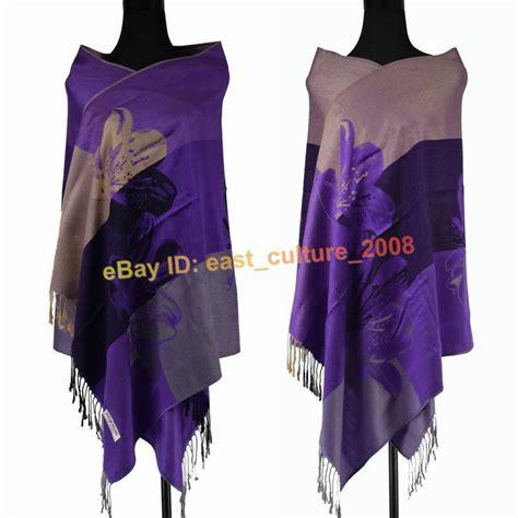 Pashmina Instan Pashmina Instan 2 2 free shipping big discount wholesale purple2 flower 100 pashmina shawl