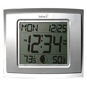 Digital Wall Clock Amazon by Amazon Com Skyscan Digital Atomic Wall Clock Electronic