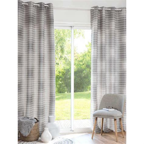 vorhang grau vorhang grau wei 223 mit 214 sen 130 x 250 cm vesco maisons du