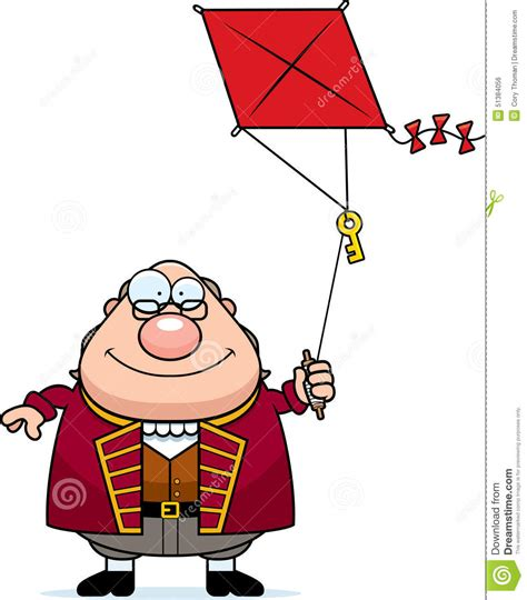 benjamin franklin biography cartoon cartoon ben franklin kite stock vector image of flying