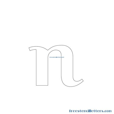 free printable lowercase letter stencils image gallery n stencil