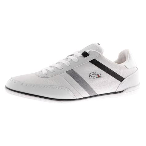 lacoste giron trainers in white for lyst