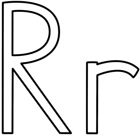 Lowercase R Coloring Pages by Lower R Coloring Page Coloring Pages