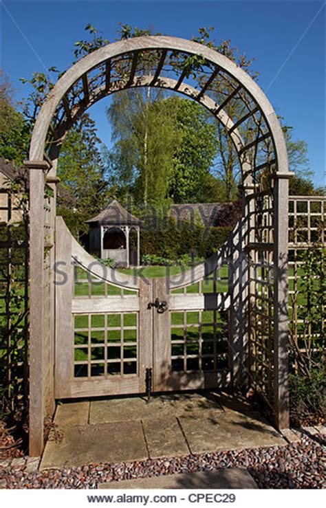 garden gate arch stock photos garden gate arch stock